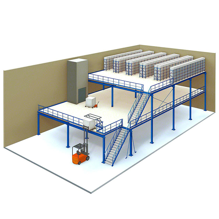 钢结构平台货架 (4)