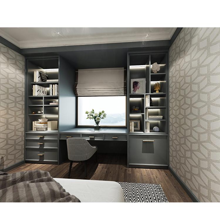纯原木全屋定制书柜 纯实木书柜木制作 天然环保无污染
