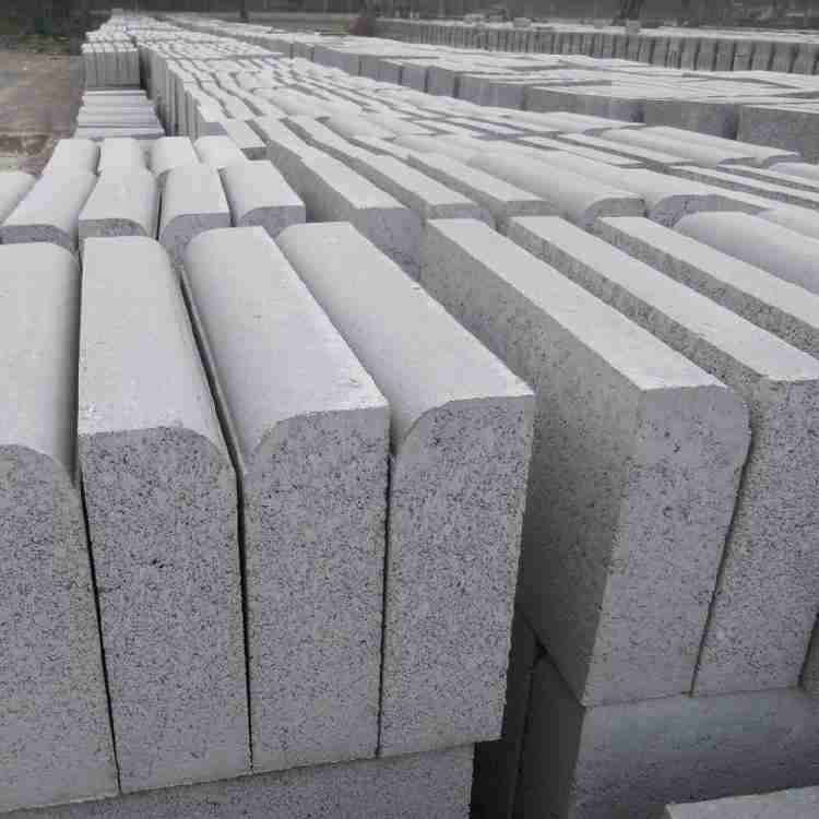 厂家直销天岗白 吉林路缘石石材批发路沿石弘祥石业