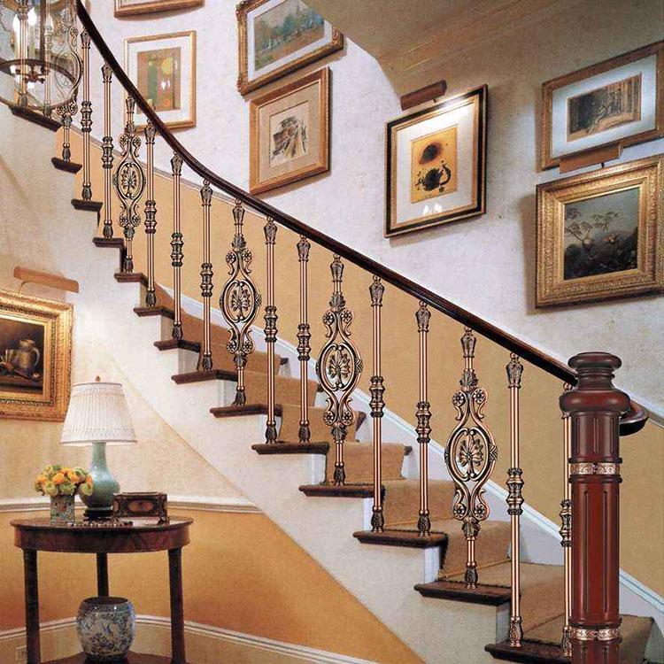 厂家直销铝艺楼梯栏杆_铝艺楼梯别墅铝合金楼梯铝艺护栏别墅楼梯