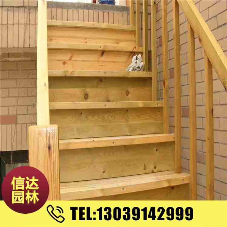 木栈道木地板木栏杆园林景观亲近水平台室外户外防腐木楼梯