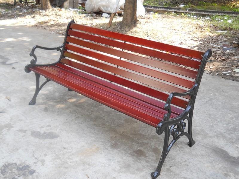 公园椅定制厂家  PVC塑木公园椅 休闲长椅量大从优