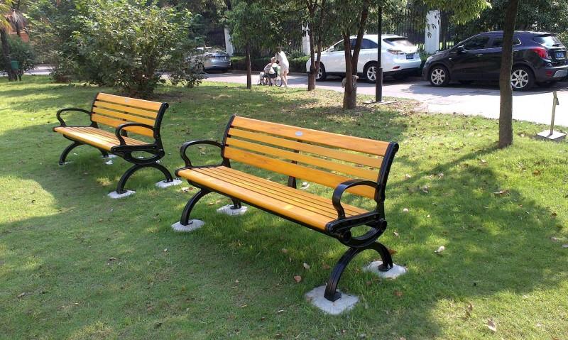 工厂直销公园椅  PVC塑木公园椅 休闲长椅量大从优
